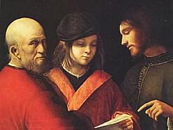 Giorgione le tre età dell'uomo