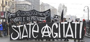 Torino corteo anarchico