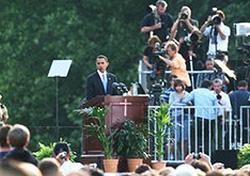 Obama croce Berlino