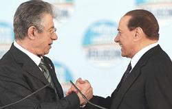 Bossi e Berlusconi