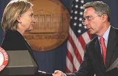 Uribe e Clinton