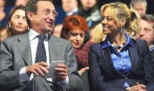 Gianfranco Fini con Elisabetta Tulliani