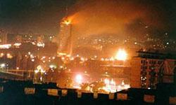 Belgrado bombardata dalla Nato
