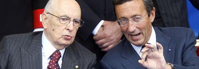 Fini e Napolitano