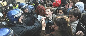 Londra protesta studenti