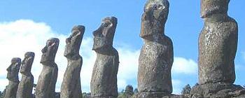 Isola di Pasqua allineamento statue