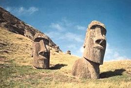 Isola di Pasqua statue