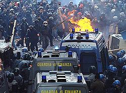 Roma scontri 1