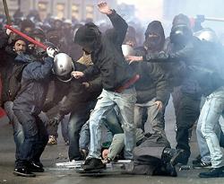 Roma scontri 10
