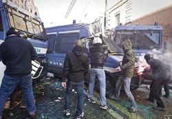 Roma scontri 21
