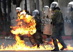 scontri Atene