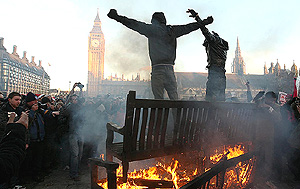 scontri Londra