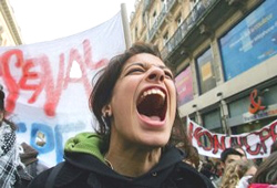 studenti protesta