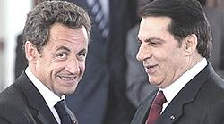 Ben Alì con Sarkozy