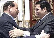 Ben Ali con Berlusconi