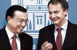 Li Keqiang con Zapatero