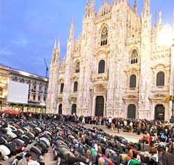 musulmani preghiera Milano