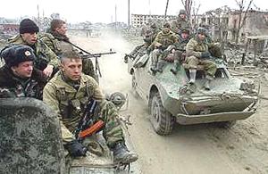 soldati russi in Cecenia
