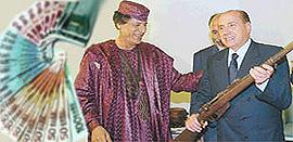 Berlusconi Gheddafi fucile