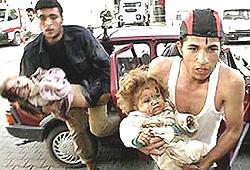 Gaza bambini feriti