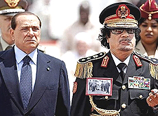 Gheddafi Berlusconi