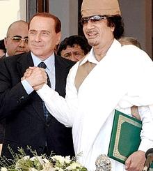 LIBYA-ITALY-KADHAFI-BERLUSCONI