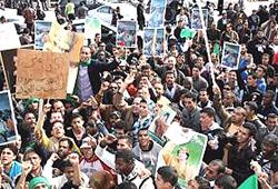Libia manifestazione