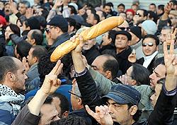 Tunisia rivolta pane