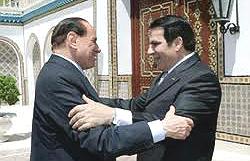Berlusconi e Ben Ali