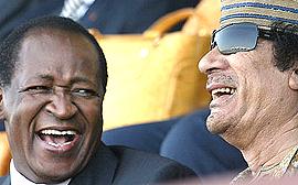 Blaise Compaoré con Muhammar Gheddafi