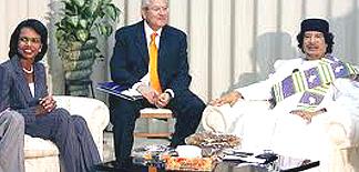Gheddafi e Condoleezza Rice