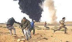 Libia Ras Lanuf bombardamento