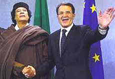 Prodi e Gheddafi