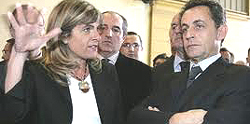 Anne Lauvergeon con Sarkozy