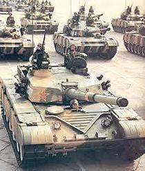 Cina carri armati