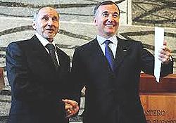 Jalil a Roma con Frattini