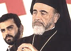 monsignor Hilarion Capucci, vescovo di Gerusalemme