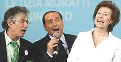 Bossi, Berlusconi e Letizia Moratti
