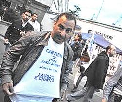 Fincantieri proteste