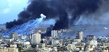 Gaza bombardamento