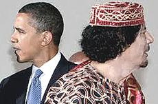 Gheddafi e Obama