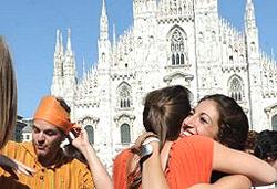 Milano esultanza