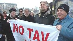 Beppe Grillo coi No-Tav