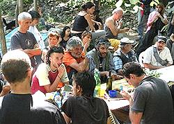 Il presidio Clarea dei No-Tav a Chiomonte
