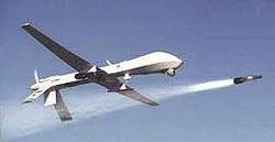 Predator drone firing