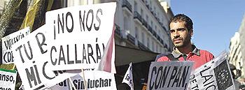 La protesta dei giovani in Spagna