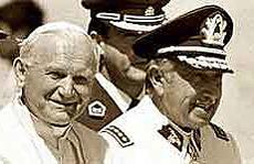 Wojtyla con Pinochet