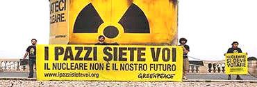 Greenpeace a Roma sulla terrazza del Pincio
