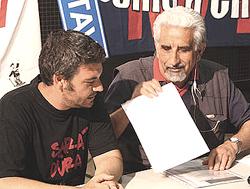 Alberto Perino (a destra)