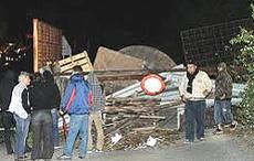 """Chiomonte, """"barricate"""" dei No-Tav per proteggere l'area"""